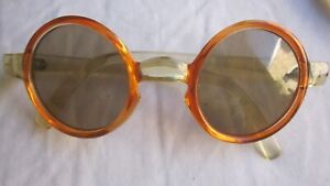 Vintage FRANCE orange/clear sunglasses.