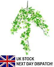 48cm Artifical Mini Ivy Trail 90 Leaves WHITE GRAPE Bouquet Ivy Fern Flower
