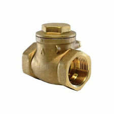 Valve 1 1/4' Lead-Free Brass Swing Check Valve with FIP Threaded Ends, 1-1/4-In