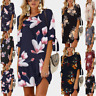 Fashion Womens Summer Floral Half Sleeve Evening Party  Short Dresses