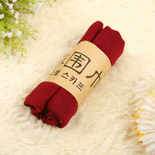 Spring Fashion Women Long Wine Red Linen Wrap Scarf Shawl Casual Beach Scarves