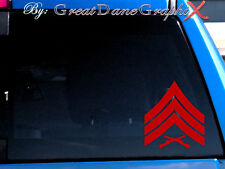 USMC SGT Sergeant Rank Chevron Vinyl Decal Sticker - Any Color - HIGH QUALITY