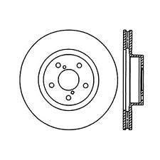 StopTech Sport Slotted Brake Disc fits 1991-2008 Subaru Impreza Legacy Forester
