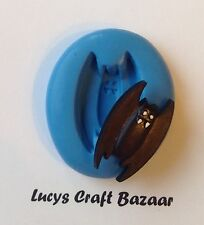 Silicone Mould Halloween Vampire Bat Cupcake Pop Topper Sugarcraft Decorating