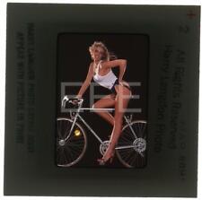 1980 Sexy Model on Bike Harry Langdon Transparency w/rights 578B