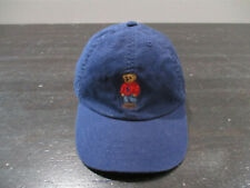 Ralph Lauren Polo Strap Back Hat Cap Blue Red Polo Bear Kids Boys Youth 90s