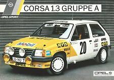 Lo SPORT Opel Corsa 1.3 GRUPPE una specifica A4 foglio in tedesco