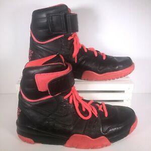 Nike Leather High Tops Size 9 Black/Pink 599447-001