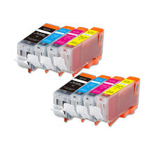 8 Pack Printer Ink Cartridges for PGI-5 CLI-8 Canon MX700 MP510 iP3300 iP3500