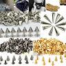 200 PCS Trendy 10MM Silver Spots Cone Screw Metal Studs Rivet Bullet Spikes USA