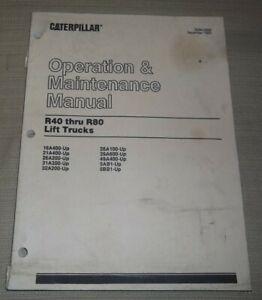 CAT CATERPILLAR R40 R50 R60 RC60 R70 R80 FORKLIFT OPERATION MAINTENANCE MANUAL