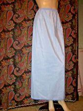 Vintage Glydens Blue Swishy Taffeta Back Zip Slit Formal Half Slip Lingerie M