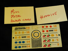 DAMAGED ANTIQUE SLOT MACHINE REPRO MISC MIXED METAL AWARD CARD #MMA105