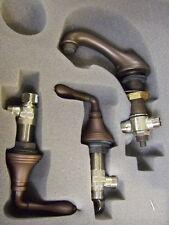 Jado Retro Nostalgie 3 Loch Waschtischarmatur Old Bronze m. UP-Elementen,Ablaufg