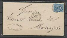 1881 Env. de MESSINA Italie 20c obl par le càd Marseille 4e, TB X4909