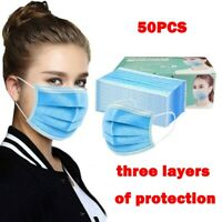 50PC Face Mask Protective Covering Mouth Mask Reusable Breathable Mask Unisex GR
