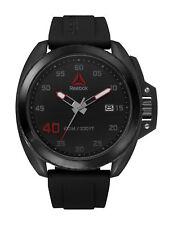 Reebok Protect Steel Mens Black Watch, Black Silicone strap RD-PRO-G3-SBIB-BR