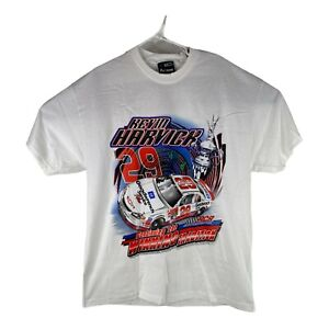 Vintage Kevin Harvick #29 Double Sided Chase Authentics Mens Large White T-Shirt