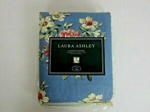 "2 Vtg Laura Ashley Hampshire Tie Back Curtains English Garden Floral 41""x84"" NOS"