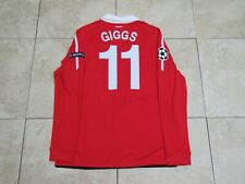 Giggs Manchester United Match Un Worn Player Issue Jersey Shirt Champions League