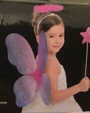 Halloween Fairy Accessory Set 3 pc Girls Wings Headband Wand - Osfm - Nwt