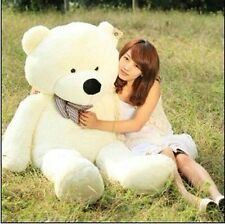 39 Soft 100% Pp Cotton Toy Giant 100cm BIG Cute White Plush Teddy Bear Huge
