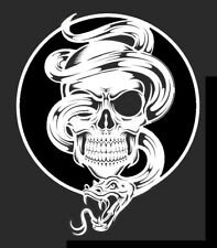 high detail airbrush stencil snake skull and snake    FREE UK POSTAGE