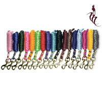 KM Elite 6ft Nylon Lead Rope 17 Colours to match Headcollars! Bolt Snap Clip!