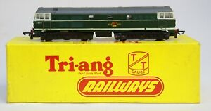 TRI-ANG TRIANG TT GAUGE T96 BOXED A1A-A1A DIESEL ELECTRIC LOCO GREEN B.R. LIVERY