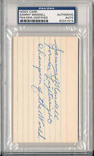 PSA/DNA SIGNED INDEX CARD SAMMY MANDELL (DIED 1967)  1615