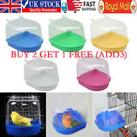 Classic Bird Bath for Caged Birds Aviary Birds Budgie Finches Canaries UK~