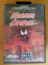 Spider-man and Venom Maximum Carnage (SEGA Mega Drive PAL) Complete RARE