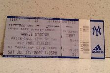 2004 New York Yankees Tampa Bay Devil Rays Yankee Stadium Ticket Stub MLB 7/10