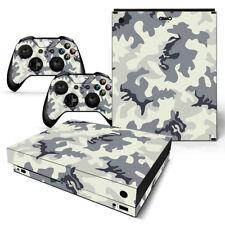 Xbox One X Skin Design Foils Sticker Screen Protector Set - Camouflage 2 Motif