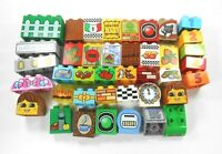 Lego Duplo Printed Learning Bricks Lot of 40 Various Colors Sizes No Duplicates
