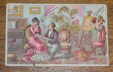 Antique Advertising Trade Card - H.S. Drake - Stroudsburg PA - Domestic Sewing