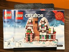Lego Creator 40337 Instruction Booklet 2019 Limited Edition Gingerbread House