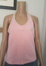Tottie Alice 2 x Pale Pink/ Pale Green Trim Logo Halterneck Tops - Size XL