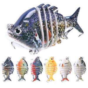 6 PCS Lifelike Eyes 6 Segment Bionic Bait Treble Hooks Crucian Carp Fishing Lure