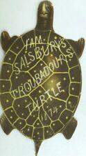 1874 Die-Cut Turtle Stage Show Salsbury's Troubadours Jolly Pic-Nic &O