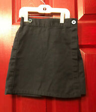 Size 6x Flynn Ohara Girls School Uniform Navy Blue Skort Button Elastic