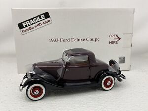 1/24 Danbury Mint 1933 Ford Deluxe Coupe Burgundy SWEET