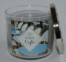 BATH & BODY WORKS PARIS CAFE SCENTED CANDLE 3 WICK 14.5 OZ LARGE COFFEE VANILLA
