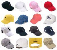 Ralph Lauren Polo Baseball Hat Men's Cap Classic or Big Pony Logo 100% Cotton