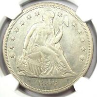 1846 Seated Liberty Silver Dollar $1 - NGC AU Details - Rare Early Coin!
