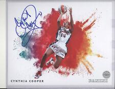Cynthia Cooper auto autograph 8x10 print Panini Color Blast Houston Comets WNBA