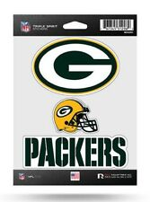 Green Bay Packers Triple Spirit Sticker Sheet Die Cut Decal New Full Color Logo