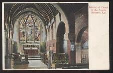 POSTCARD LOS ANGELES CA/CALIFORNIA CHURCH OF THE ANGELS ALTAR INTERIOR 1907
