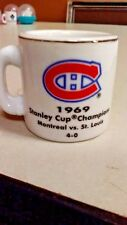NHL STANLEY CUP CRAZY MINI MUG MONTREAL CANADIENS 1969 CHAMPS W/OPPONENT &SCORE