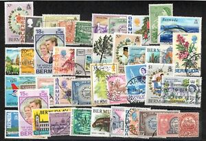 """BERMUDA -   """"   FORTY   STAMPS   ALL   DIFFERENT   """" ."""